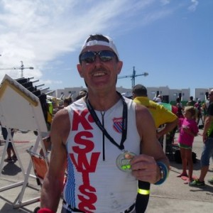 Geoff Taylor at the start of a grueling Ironman 70.3 Lanzarote October 5th 2013