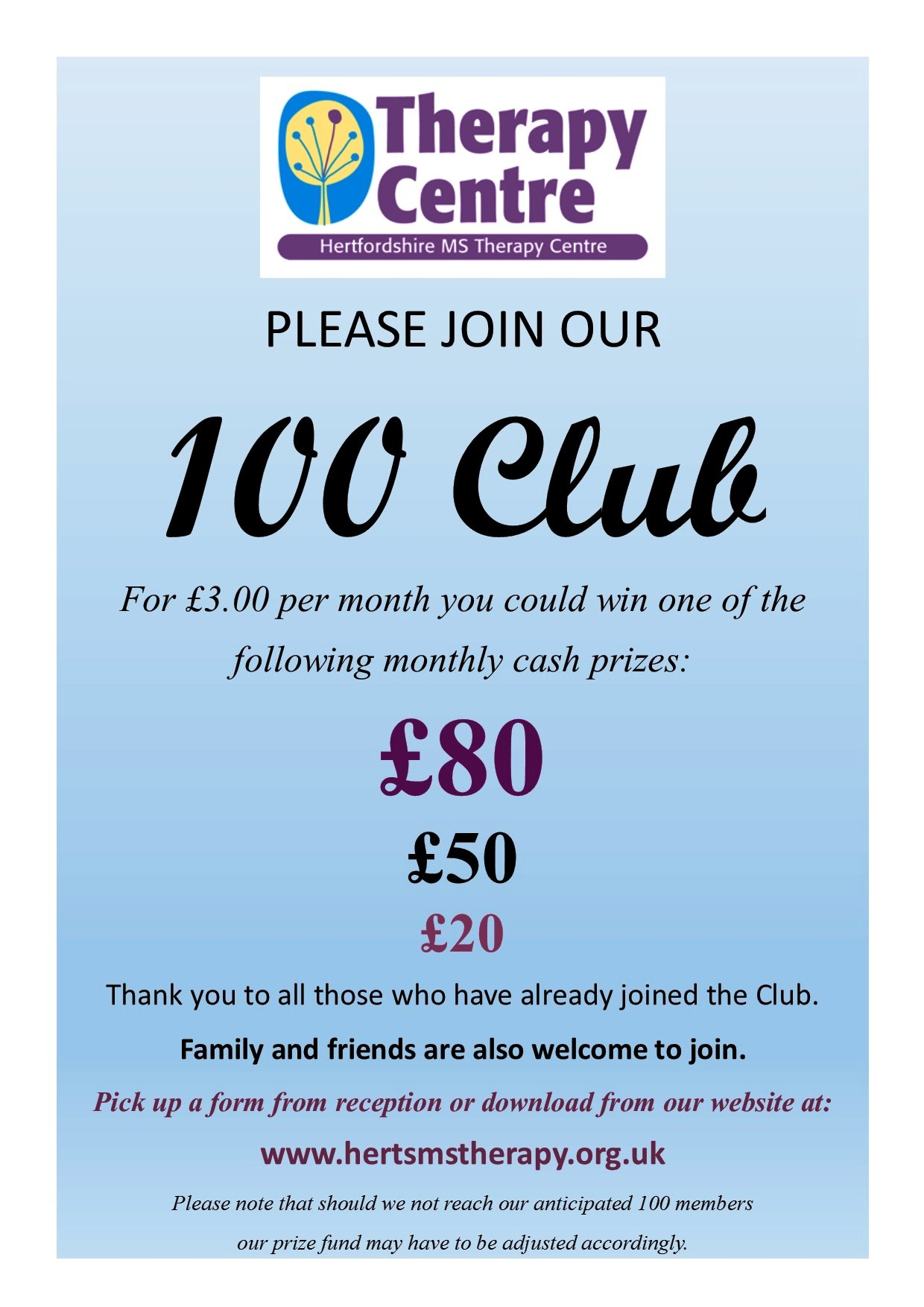 Join the 100 Club poster