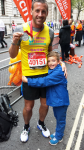 Marathon 2015 Danny Adams with proud son