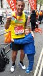 Marathon 2015 Danny Adams with proud son
