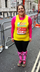 Marathon 2015 Ruth Walker after completing her second London marathon