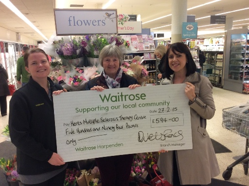Waitrose Harpenden Community Awareness Award March 2015