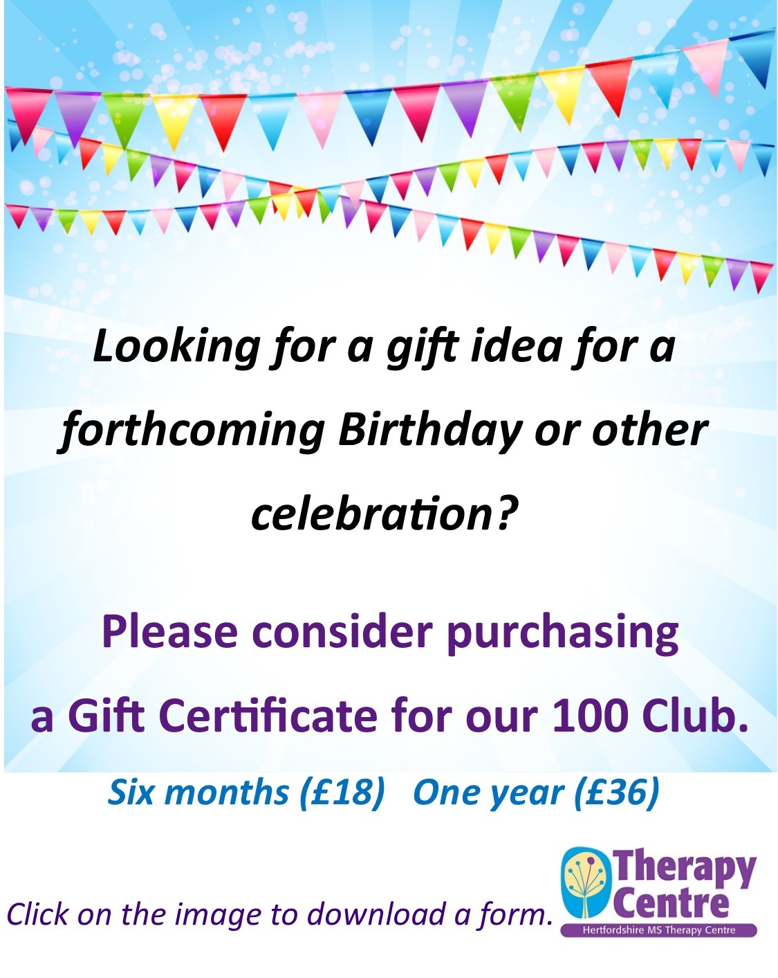 100 Club Gift Cert image for web and email