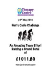 Herts Cycle Challenge raised £1011.89