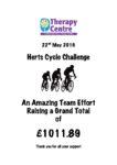 Herts Cycle Challenge raised £1011.89