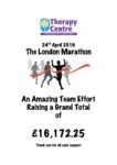 London marathon Fundraising - 2016 £16,172.25