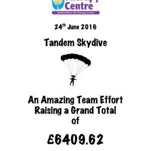 Skydive total £6409.62