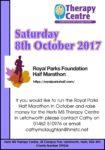 Royal Parks half marathon 8th Oct 2017