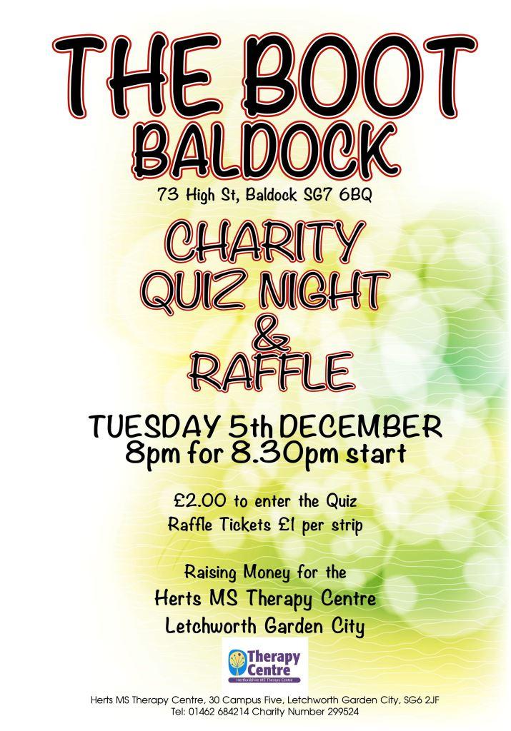 Quiz night @ The Boot Baldock 5 December 2017