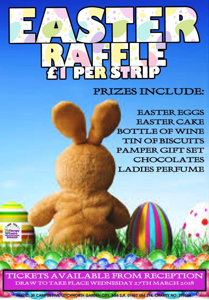 HMSTC Easter raffle poster