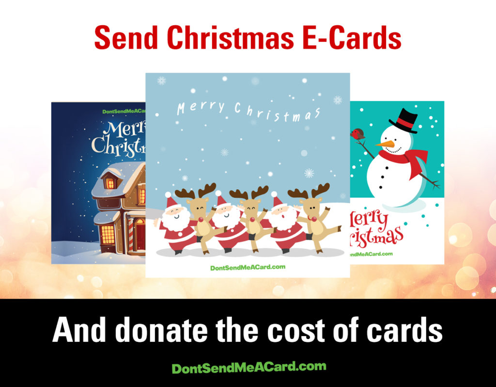 Sending Christmas Ecards