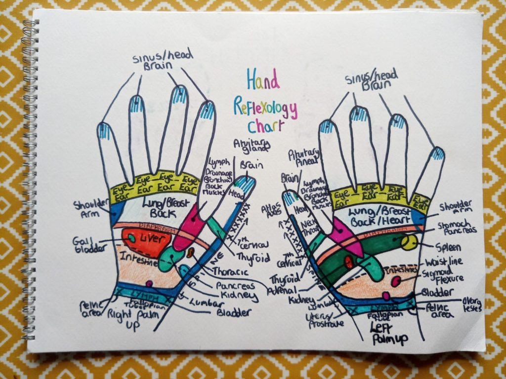 Reflexology diagram - hands