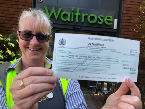 Waitrose fundraises for herts MS Therapy Centre
